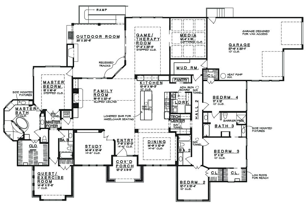 prairie style house plan  ft plan