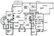 Prairie Style House Plan - 5 Beds 4 Baths 4545 Sq/Ft Plan #935-13 Floor Plan - Main Floor Plan
