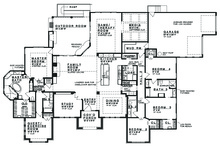 Prairie Floor Plan - Main Floor Plan Plan #935-13