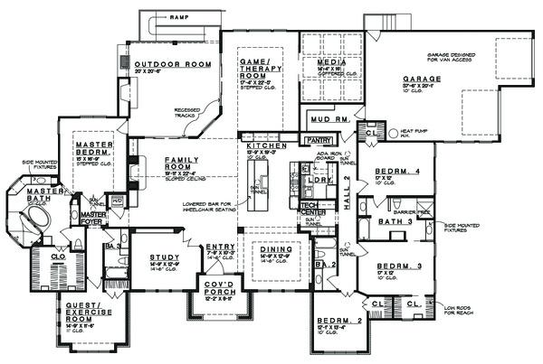 Prairie Floor Plan - Main Floor Plan Plan #935-13