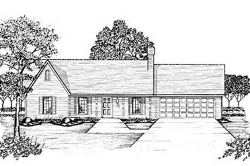 Ranch Exterior - Front Elevation Plan #36-131