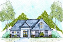 European Exterior - Front Elevation Plan #36-479