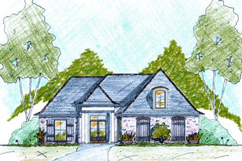 Architectural House Design - European Exterior - Front Elevation Plan #36-479