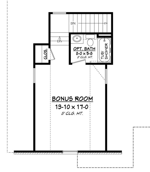 Architectural House Design - European Floor Plan - Upper Floor Plan #430-94