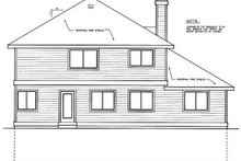House Design - Traditional Exterior - Rear Elevation Plan #90-205