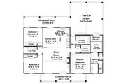 Farmhouse Style House Plan - 3 Beds 2 Baths 1800 Sq/Ft Plan #21-451 Floor Plan - Main Floor Plan