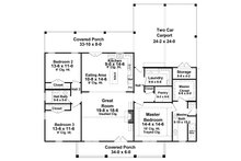 Farmhouse Floor Plan - Main Floor Plan Plan #21-451