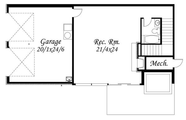 Modern Floor Plan - Lower Floor Plan Plan #509-42