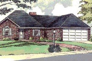 Traditional Exterior - Front Elevation Plan #16-111