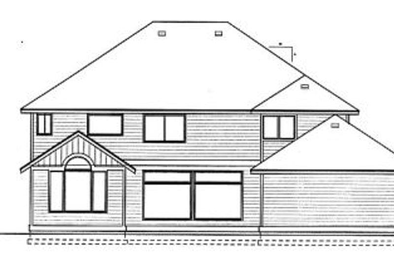 Craftsman Exterior - Rear Elevation Plan #99-209 - Houseplans.com