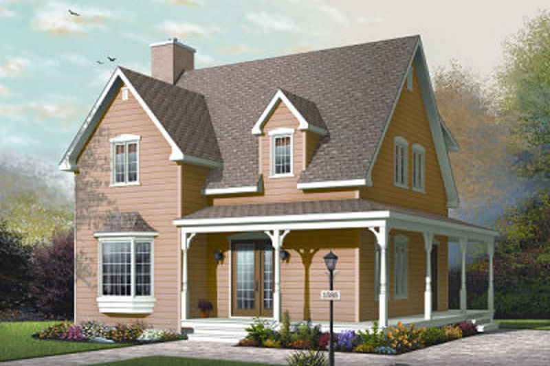 Traditional Exterior - Front Elevation Plan #23-677 - Houseplans.com