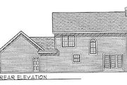 Colonial Style House Plan - 3 Beds 2.5 Baths 1553 Sq/Ft Plan #70-150 Exterior - Rear Elevation