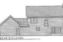 Colonial Exterior - Rear Elevation Plan #70-150