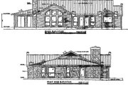 Country Style House Plan - 3 Beds 2 Baths 1963 Sq/Ft Plan #140-116 Exterior - Rear Elevation