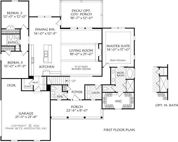 Ranch Floor Plan - Main Floor Plan #927-1017