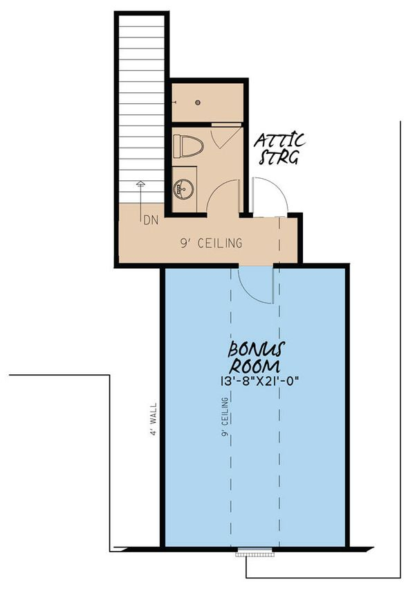 European Floor Plan - Upper Floor Plan Plan #923-28