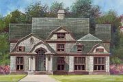 European Style House Plan - 5 Beds 4.5 Baths 3254 Sq/Ft Plan #119-154 Exterior - Front Elevation