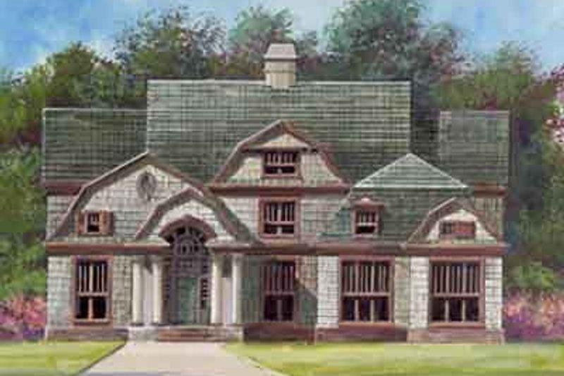 Dream House Plan - European Exterior - Front Elevation Plan #119-154