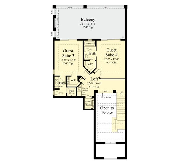 Modern Floor Plan - Upper Floor Plan #930-519