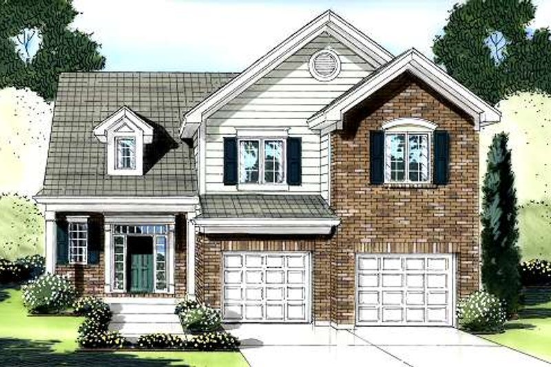 Traditional Exterior - Front Elevation Plan #46-423 - Houseplans.com