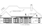 European Style House Plan - 4 Beds 3.5 Baths 3018 Sq/Ft Plan #15-144 Exterior - Rear Elevation