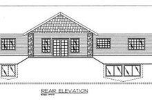 Ranch Exterior - Rear Elevation Plan #117-491