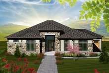 House Plan Design - Ranch Exterior - Front Elevation Plan #70-1117