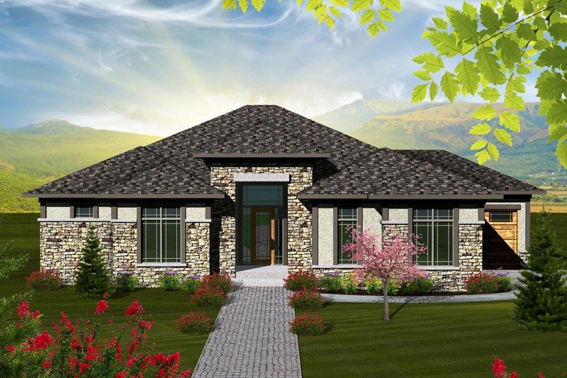 House Plan Design - Ranch Exterior - Front Elevation Plan #70-1117