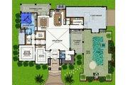 Mediterranean Style House Plan - 4 Beds 4.5 Baths 6838 Sq/Ft Plan #548-22 Floor Plan - Main Floor Plan