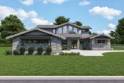 Modern Style House Plan - 3 Beds 2.5 Baths 2641 Sq/Ft Plan #1070-125 Exterior - Front Elevation