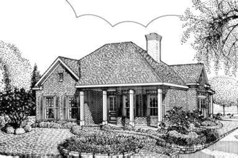 Colonial Exterior - Front Elevation Plan #410-325