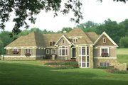Country Style House Plan - 4 Beds 3.5 Baths 4756 Sq/Ft Plan #51-548 Exterior - Front Elevation