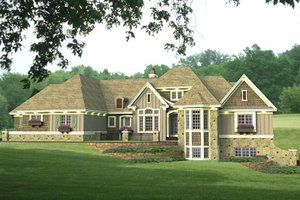 Country Exterior - Front Elevation Plan #51-548