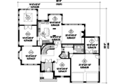Traditional Style House Plan - 3 Beds 2 Baths 3837 Sq/Ft Plan #25-4490 Floor Plan - Main Floor Plan