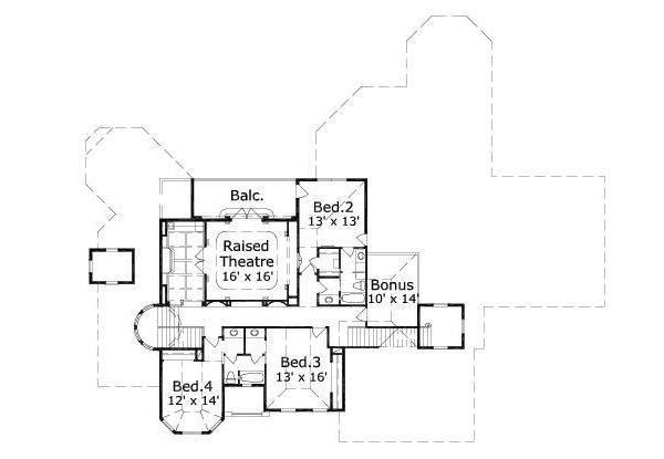 European Floor Plan - Upper Floor Plan Plan #411-288