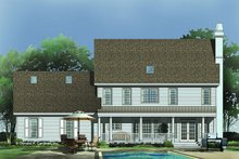 Dream House Plan - Classical Exterior - Rear Elevation Plan #929-383