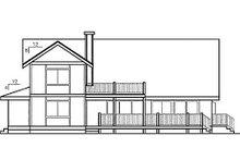 Dream House Plan - Farmhouse Exterior - Rear Elevation Plan #60-130