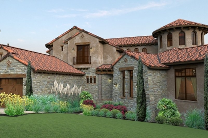 European Style House Plan - 4 Beds 4.5 Baths 4373 Sq/Ft Plan #120-177 Photo