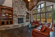 Craftsman Style House Plan - 4 Beds 4.5 Baths 4208 Sq/Ft Plan #892-3 Interior - Family Room
