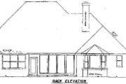 European Style House Plan - 4 Beds 3.5 Baths 2874 Sq/Ft Plan #52-136 Exterior - Rear Elevation