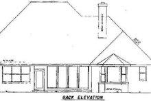 House Plan Design - European Exterior - Rear Elevation Plan #52-136