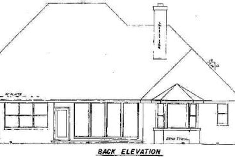 European Exterior - Rear Elevation Plan #52-136 - Houseplans.com