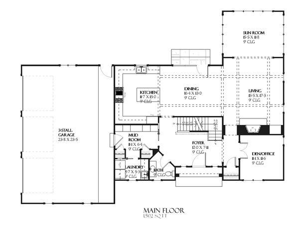 Traditional Floor Plan - Main Floor Plan Plan #901-89