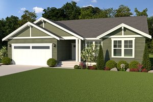 Dream House Plan - Craftsman Exterior - Front Elevation Plan #1070-49