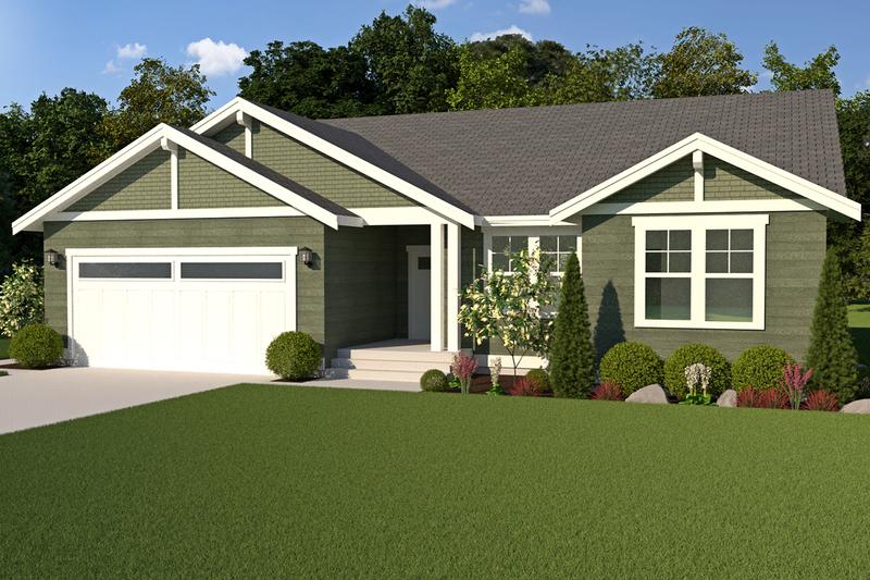Dream House Plan - Craftsman Exterior - Front Elevation Plan #1070-49
