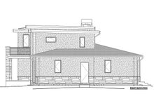 House Plan Design - B/W right side elevation