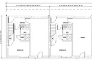 Modern Style House Plan - 2 Beds 2 Baths 5850 Sq/Ft Plan #448-1 Floor Plan - Lower Floor Plan