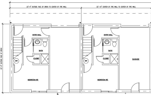 Modern Floor Plan - Lower Floor Plan Plan #448-1