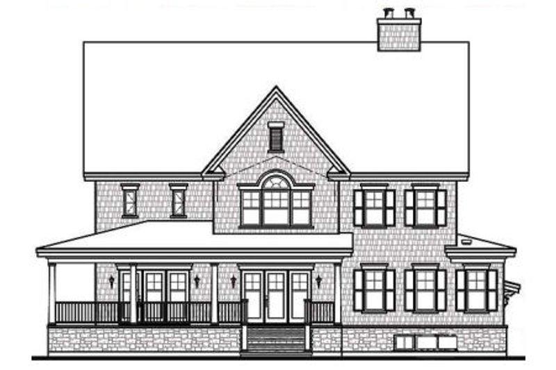 Farmhouse Exterior - Rear Elevation Plan #23-669 - Houseplans.com