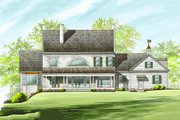 Colonial Style House Plan - 4 Beds 3 Baths 4263 Sq/Ft Plan #137-247 Exterior - Rear Elevation